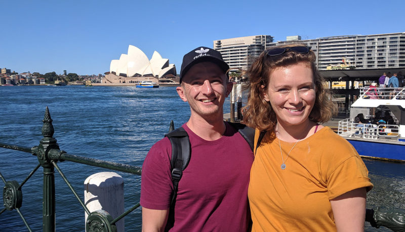 Craig and Ellen at the Sydney Opera House in Sydney