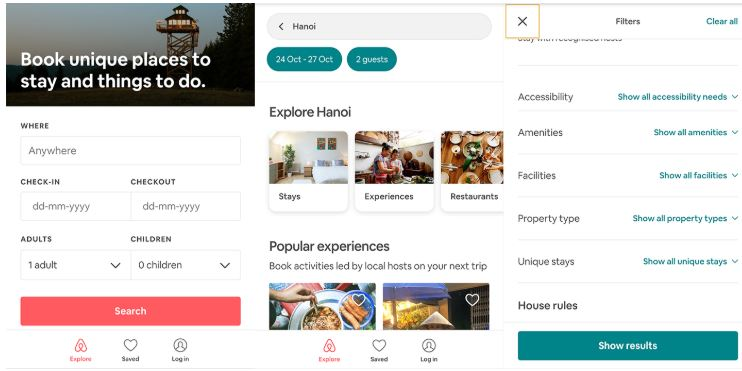 AirBnb Mobile UX