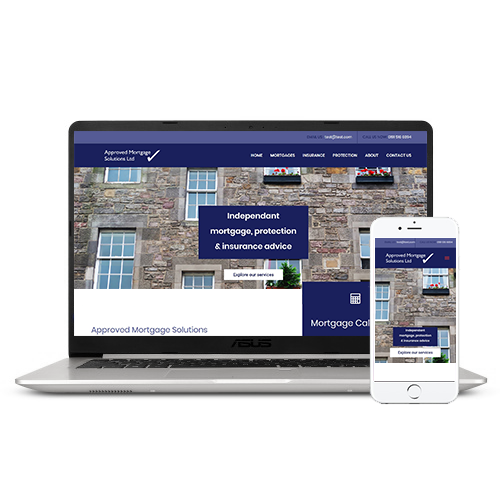 Initial website concept for Approved Mortgage Solutions