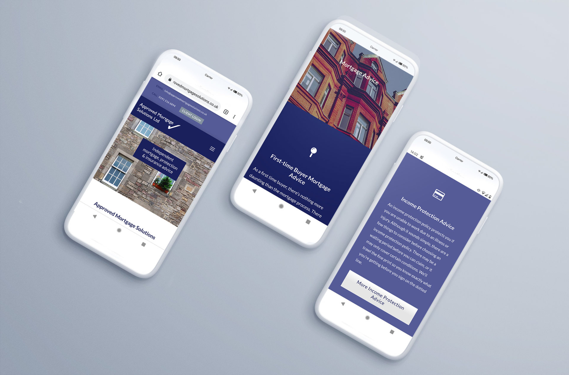 Website Mobile Mock Ups