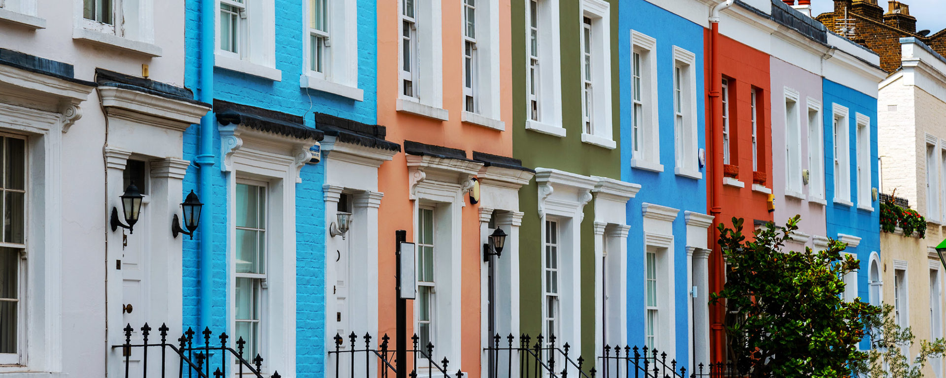 Coloured townhouses