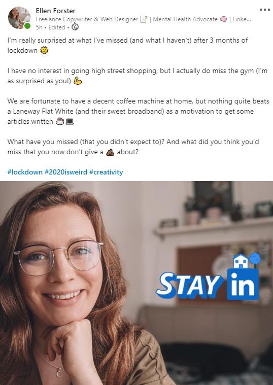 Ellen LinkedIn Post